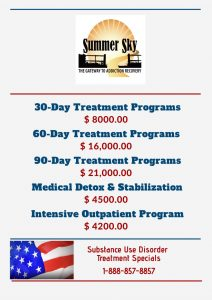 Substance use Disorder Treatment Specials 2021